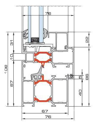 Aluminium Windows    MB-60 - Aluminium Turn&Tilt Window