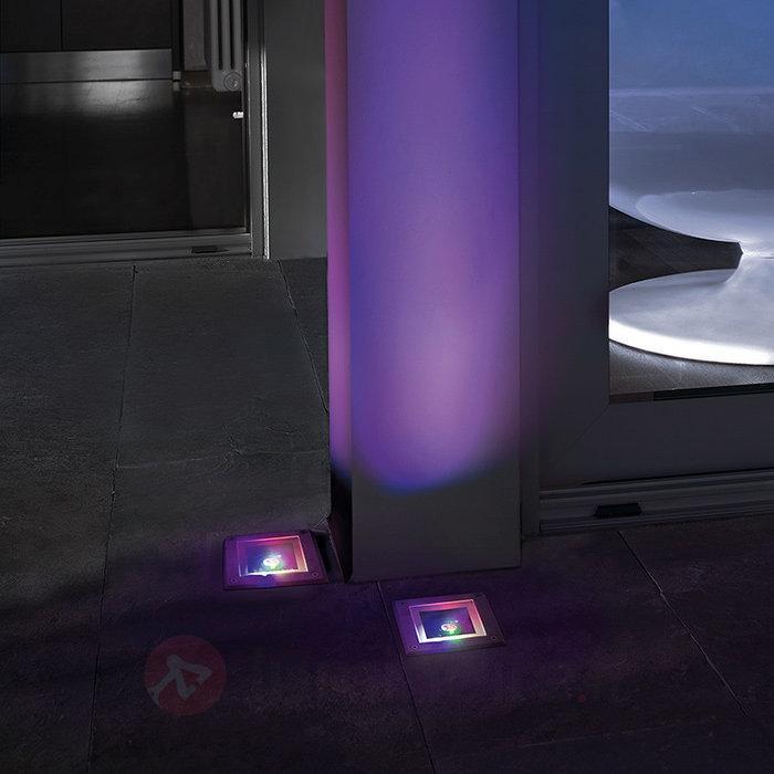 Spot encastrable sol GEA carré changement couleur - Luminaires LED encastrés au sol