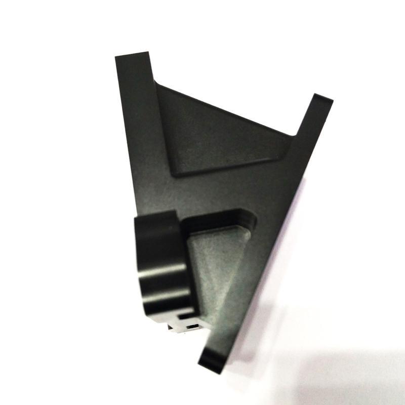 Aluminium milling part - black anoidized aluminium mlling part