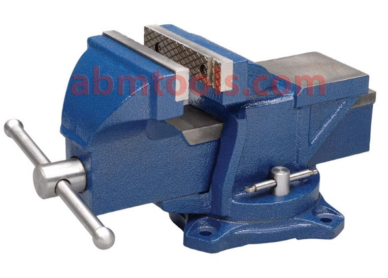 Bench Vice Swivel Base - Horizontal and Vertical 'V' is provided for round section work.