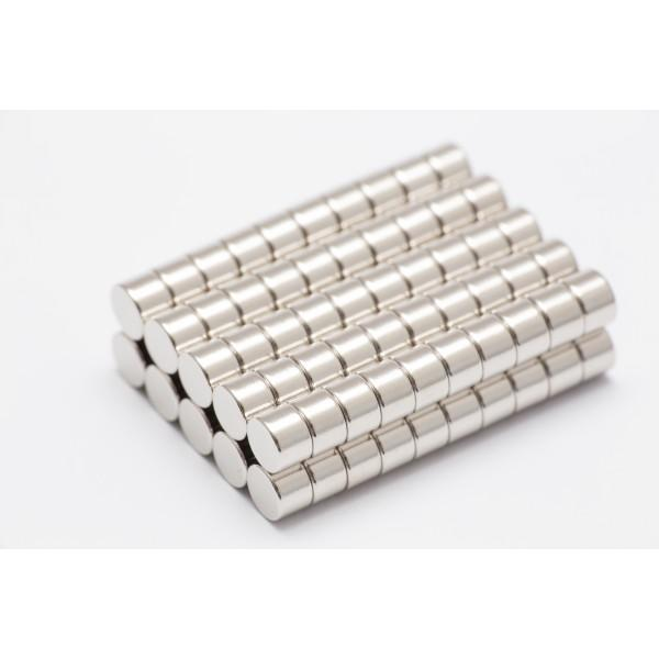 Neodymium disc magnet 6x4mm, N45, Ni-Cu-Ni, Nickel coated - Disc
