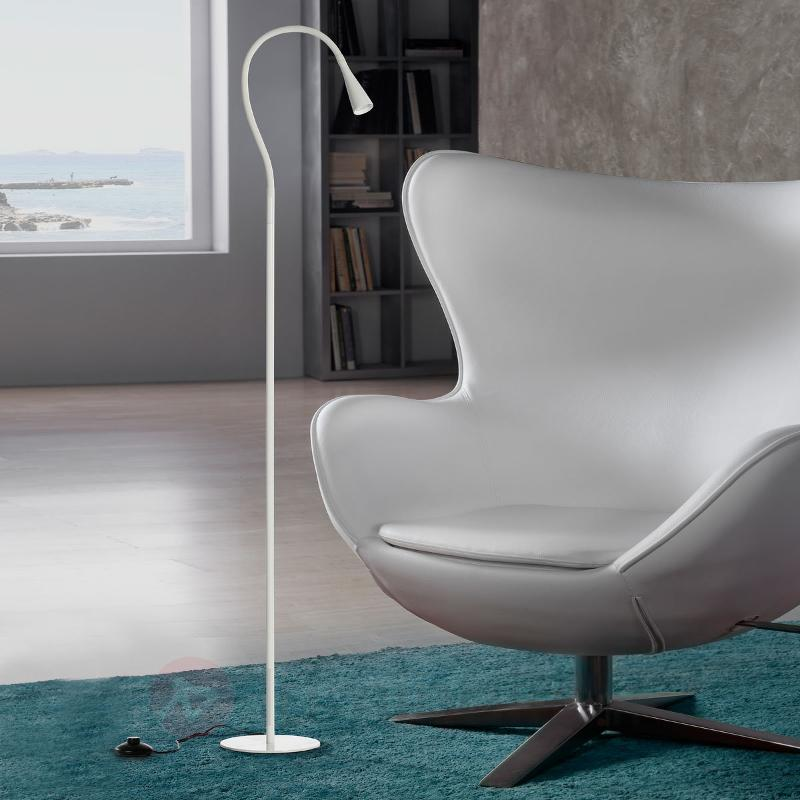 Lampadaire LED blanc Ion, flexible - Lampadaires LED