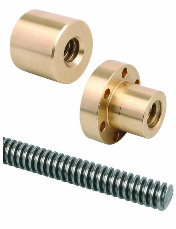 Trapezoidal rolled thread spindles RH thread, single-start - Trapezoidal rolled thread spindles RH thread, single-start. Steel 1.0401 (C15).