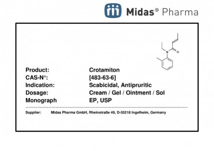 Crotamiton - Crotamiton; (E)-N-Ethyl-N-(methylphenyl)but-2-enamide; API; EP; CAS 483-63-6