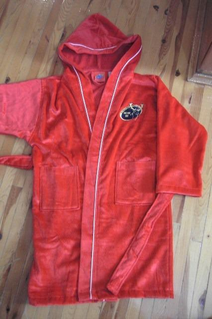 custom logo promotional bathrobe - 100% cotton embroidered advertising bathrobe