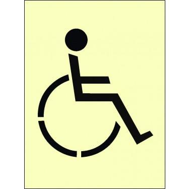 Pochoir industriel pour sol - Pochoir Symbole Handicapé en PVC réutilisable