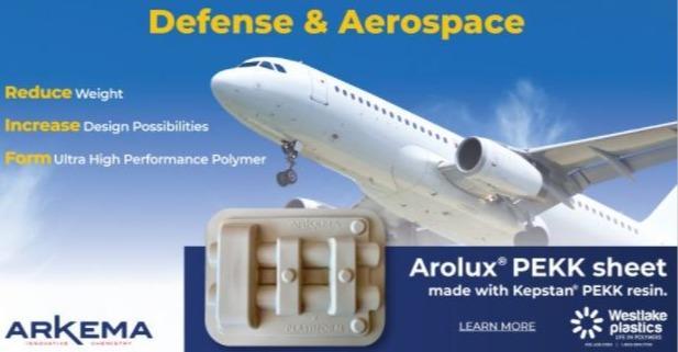 Arolux PEKK: verformbare dünne Platten - extrudierte amorphe PEKK Platten, halb-krystallisierbar beim Verformen