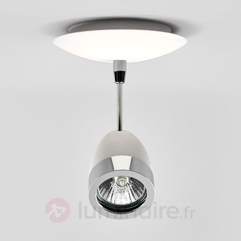 Spot halogène blanc Levi avec chrome - Spots et projecteurs halogènes