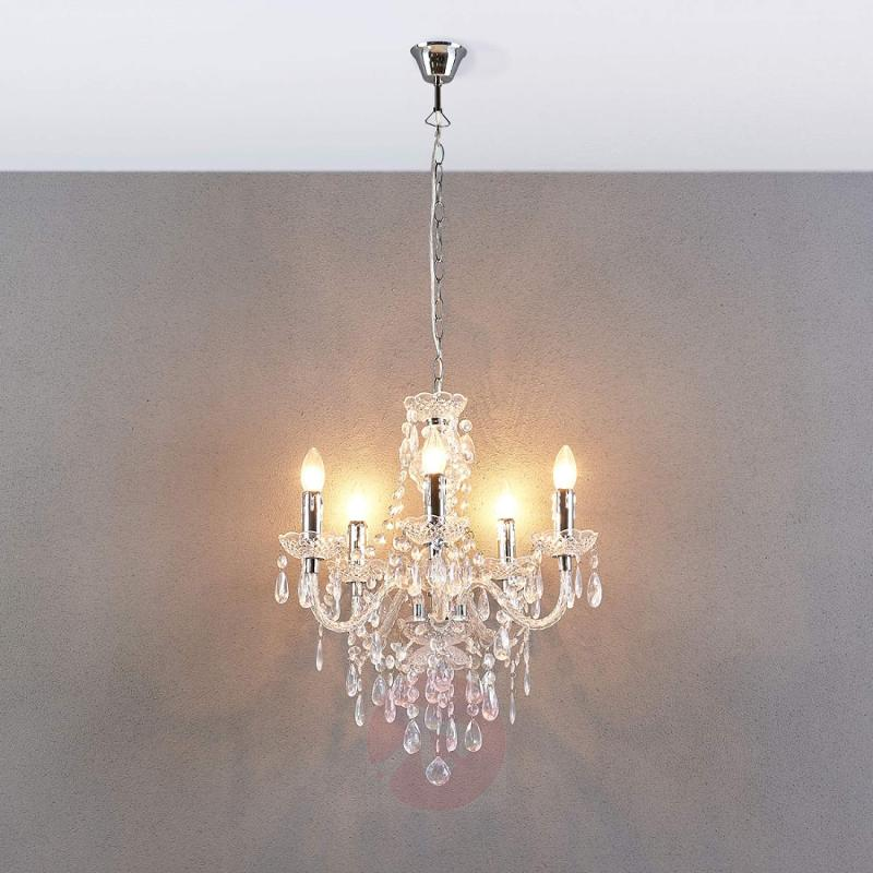 Five-bulb chandelier Merida - indoor-lighting