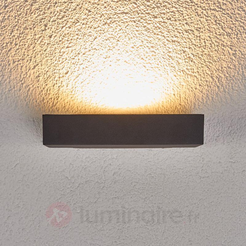 Lèche-mur LED Finja gris foncé pour l'extérieur - Appliques d'extérieur LED
