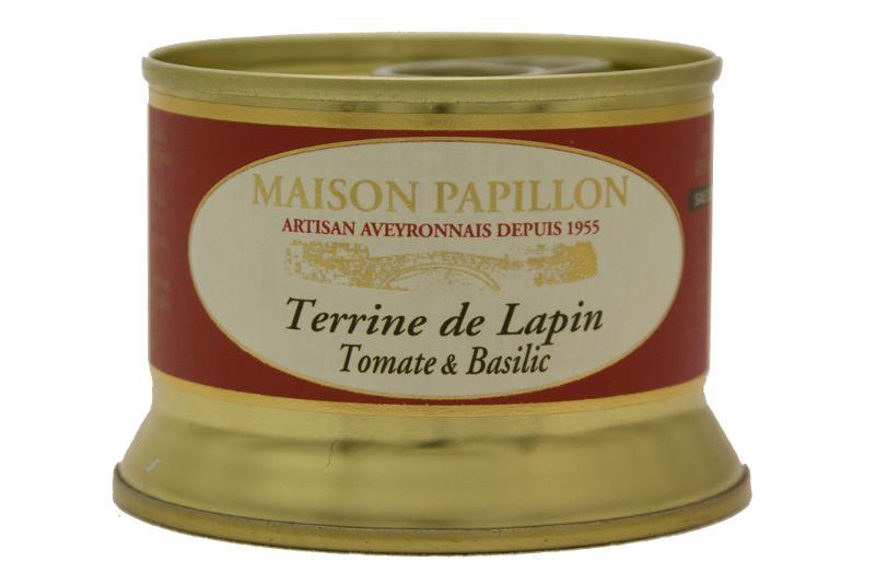 Terrine Gastronomie - LAPIN à la TOMATE et BASILIC - Epicerie salée