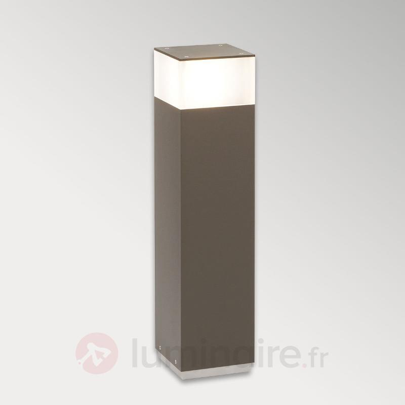 Borne lumineuse effilée Mr. Senior 155 aluminium - Toutes les bornes lumineuses