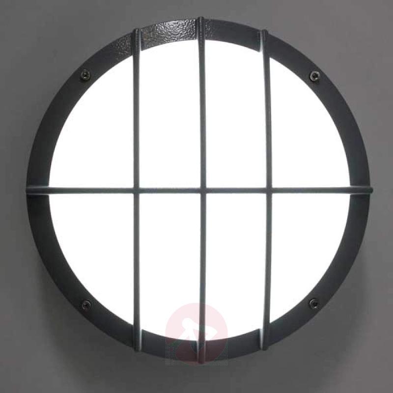 Sun 8 LED die-cast aluminium wall light 8 W 3000 K - stainless-steel-outdoor-wall-lights