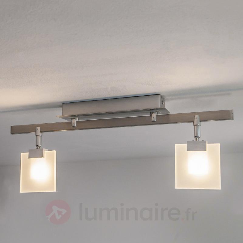 Plafonnier LED Livius avec plaques de verre - Plafonniers LED
