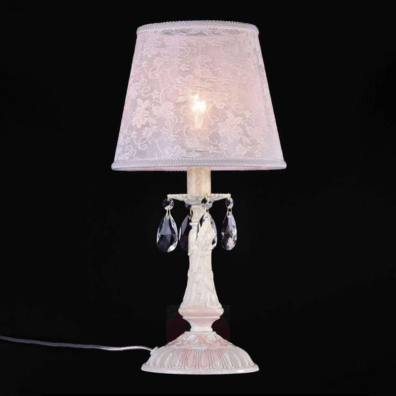 With lace shade - elegant table lamp Filomena - design-hotel-lighting
