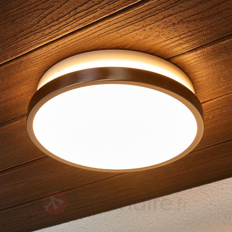 Applique d'extérieur LED Noxlite Circular, capteur - Appliques d'extérieur avec détecteur