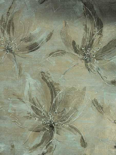 Temptation - Floral suede effect Wallcoverings