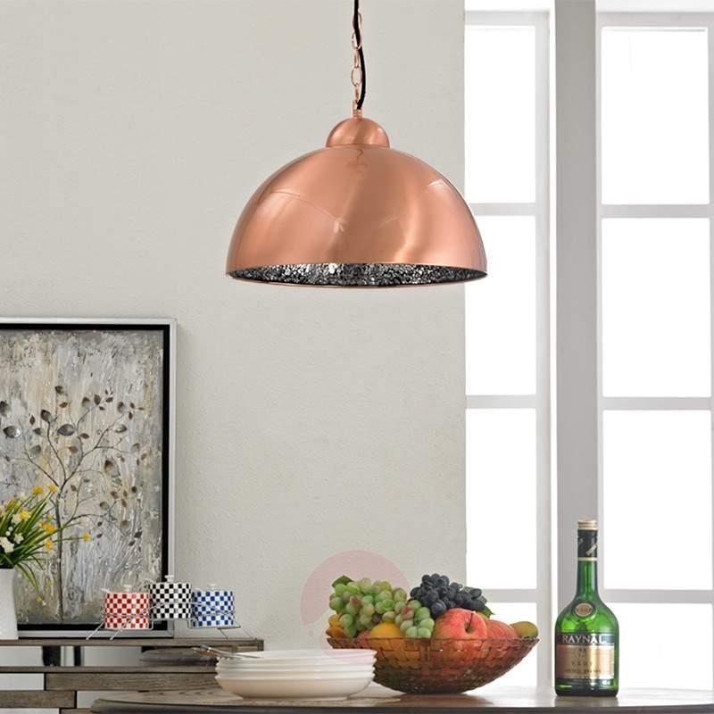 Copper-coloured LED pendant light Felippa - Pendant Lighting