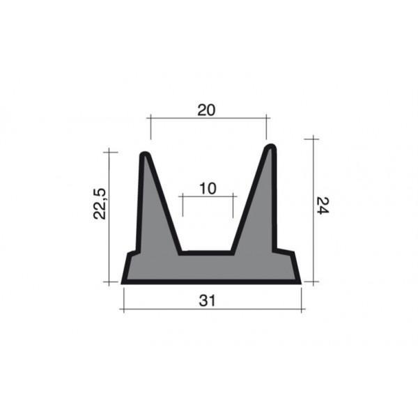 Moosgummidichtung schwarz 1m (31x24) - Kälte Kühlraum