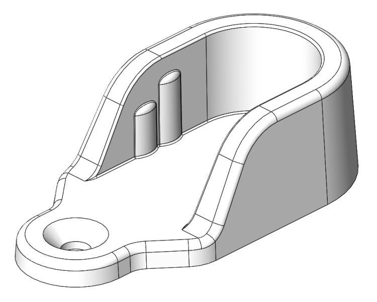 Schrankrohrlager 2 Bohrungen - Kunststoff - grau-aluminium - Schrankrohrlager