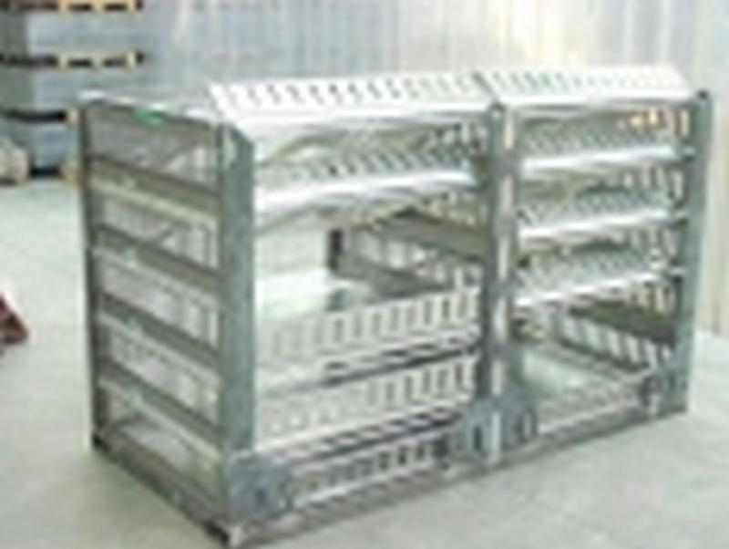 Metal pallet for poultry transportation - null