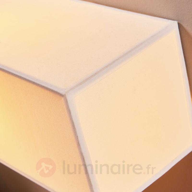 Applique en tissu blanc rectangulaire Katrien - Appliques en tissu