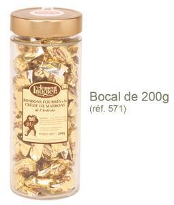 Bonbons à la Crème de Marrons de l'Ardèche - Bocal verre 200g