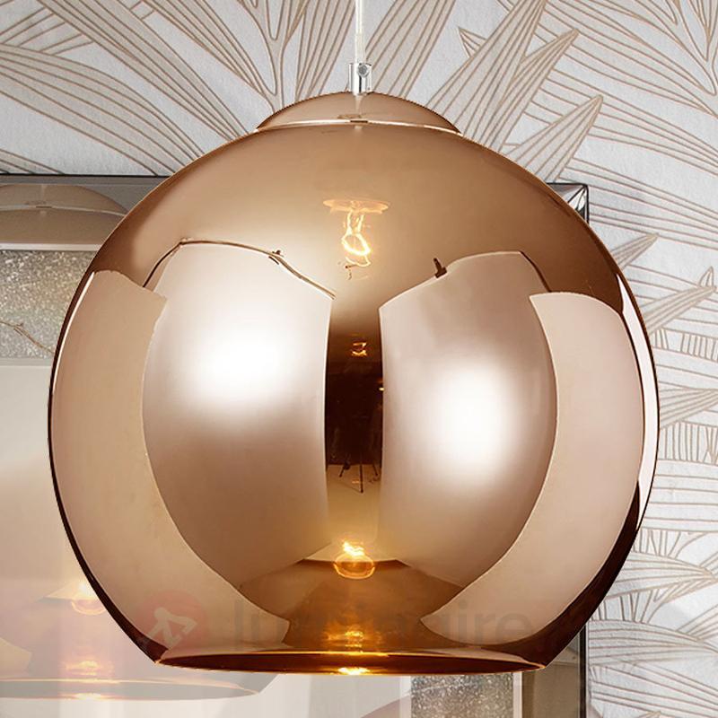 Suspension Esfera couleur cuivre, abat-jour verre - Suspensions en verre