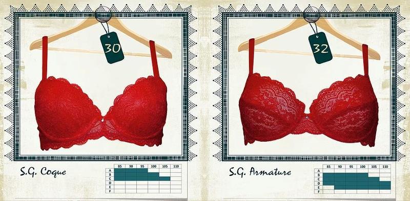 Soutien-gorges Coque et Armature imprimés Rouge Passion - Lingerie pour Femmes