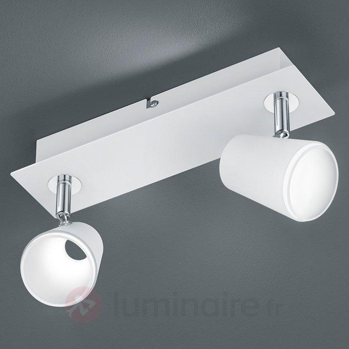 Spot LED Narcos blanc chrome 2 vantaux - Spots et projecteurs LED
