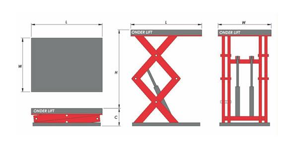 Custom hydraulic scissor lifts