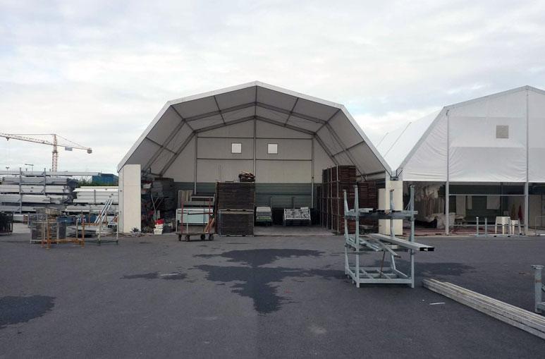 Abri de stockage - Systèmes de construction démontable - Constructions industrielles