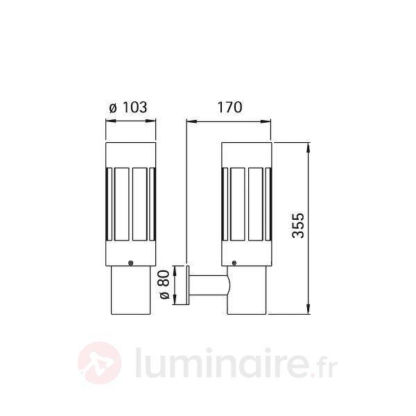 Applique d'extérieur 471 -Fabriqué en Allemagne - Appliques d'extérieur inox