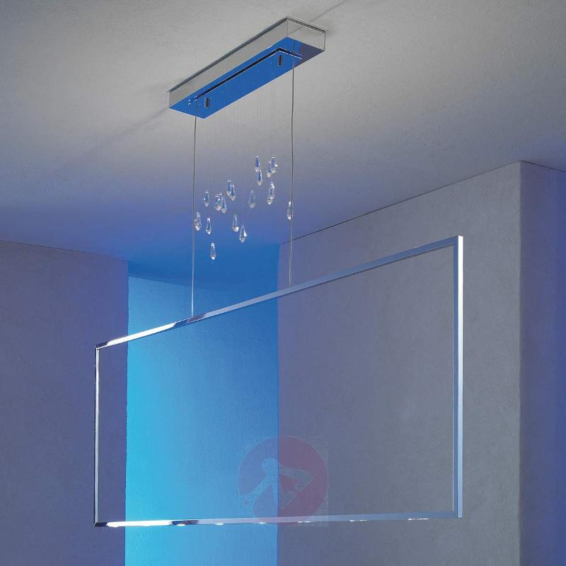 Glossy chrome LED pendant lamp Air - Pendant Lighting