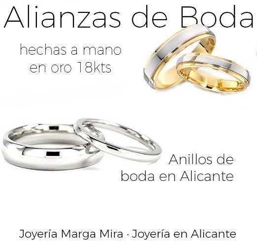 Alianzas de Boda en Alicante - Descubre alianzas de boda hechas en oro blanco, amarillo, rosa o combinadas
