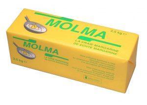 Margarine Molma 100% végétale  - Format disponible : 2,5kg