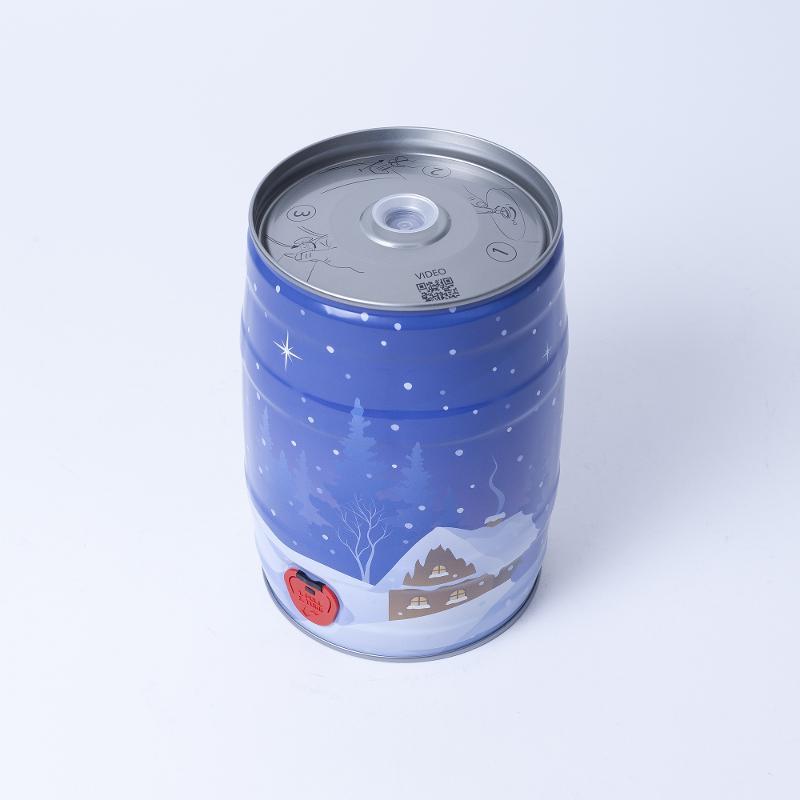 Partyfass 5 Liter, Winterdekor - Artikelnummer 420000596400