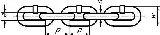 CHAÎNE CALIBRÉE POUR TRANSMISSION - PAS=3XD - NFE 26-011 - INOX 304 L (334101)