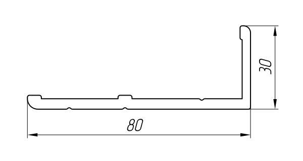 Aluminum Profile For Doors Ат-3031 - Interior aluminum profile