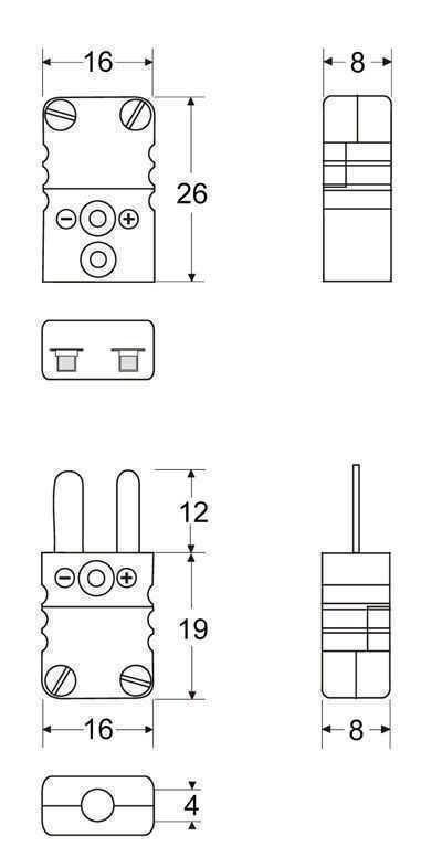 Coupling jack Miniature | High-temperature (CMJH) - Panel Miniature Insert