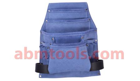 Leather Nail Bag Multipurpose - Adjustable nylon strap with plastic buckle.