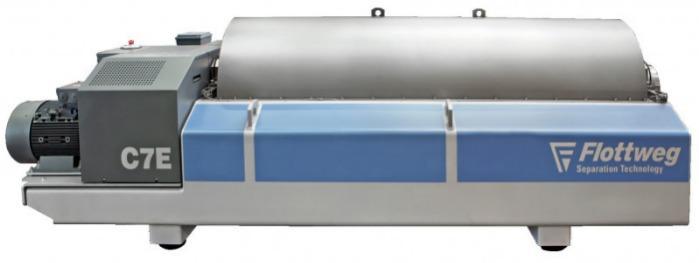 Centrífuga Decanter C7E - Decanter Flottweg C7E: La centrífuga para las aguas residuales