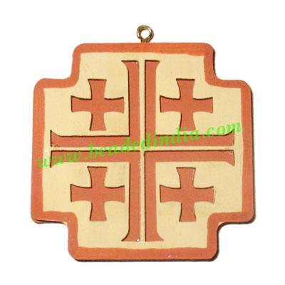 Handmade wooden cross (christian) pendants, size : 45x3mm - Handmade wooden cross (christian) pendants, size : 45x3mm