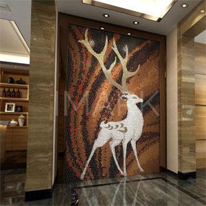 Artistic Deer Painting Ceramic Mosaic Tile Mural From China