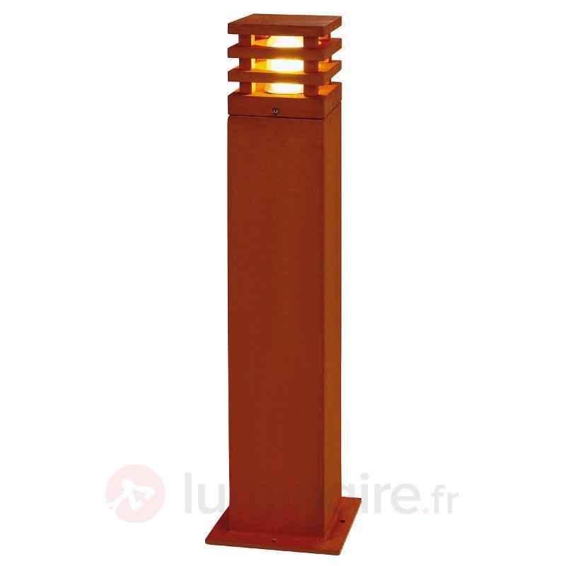 Borne lumineuse haut de gamme Rusty Square - Toutes les bornes lumineuses