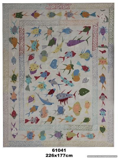 Hand made decorative carpet - Flat weave finish