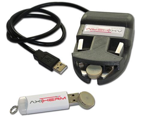 AXImicro - capteur de températures miniature ultra-plat - Enregistreur miniature de températures pour le suivi de produits