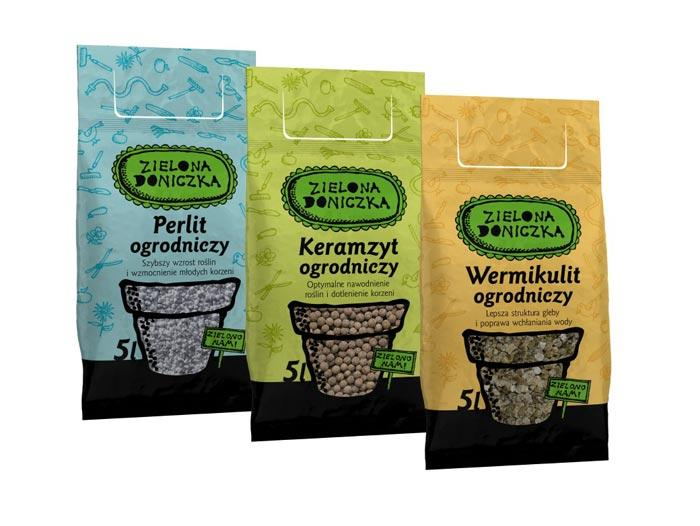 Printed packaging for bagged soil - null