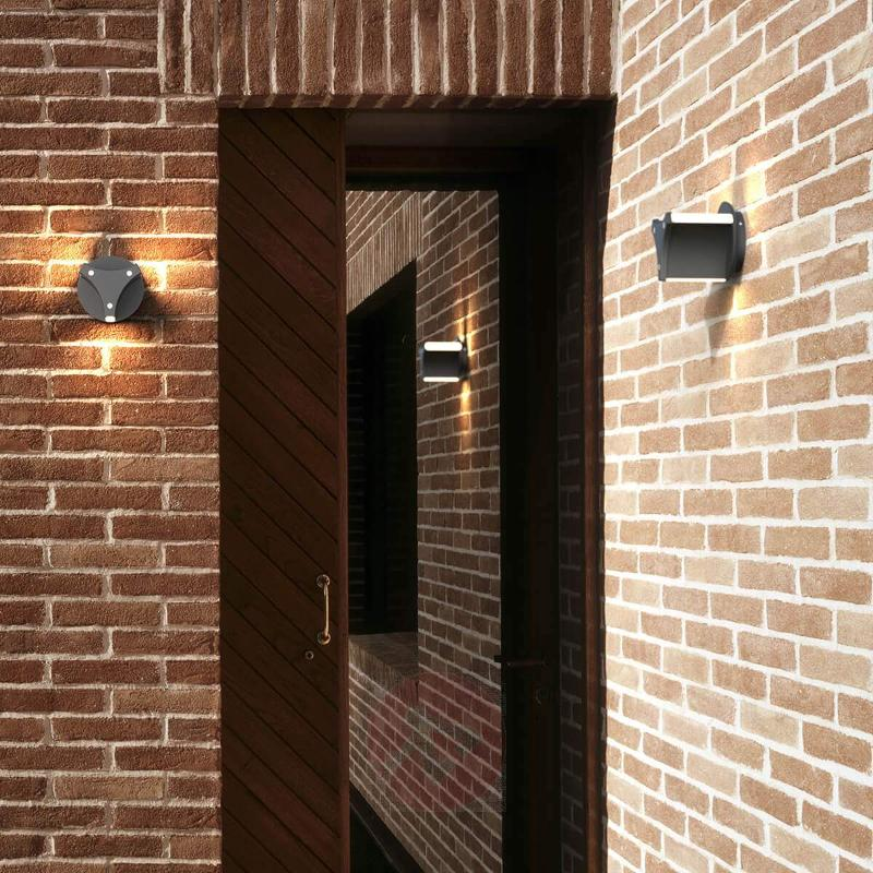 Titus - modern LED outdoor wall light in black - Outdoor Wall Lights