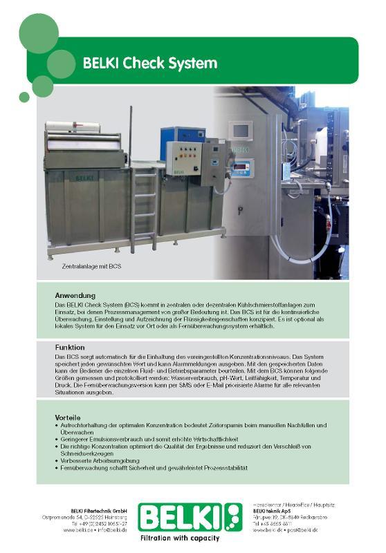 BELKI Check System - Automatische KSS Überwachung und Dosierung -